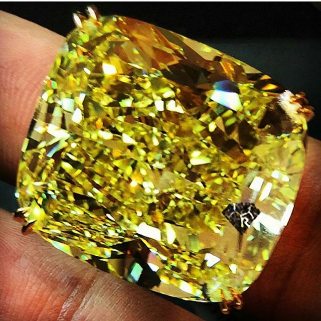 The Sunshine Diamond.  A Truly Impressive 75ct+ Fancy Vivid Yellow Diamond! ◇◇◇ www.getrockd.com ◇◇◇ #Sunshine #Diamond #Fancy #VividYellow #BigDiamonds #GetROCKD #NY #LuxuryLifestyle #SMILE #luxury #instagems #bestintheworld #rare #beautiful #gems #instabling #ForSale #Jewelry #Jewellery #JewelryLovers #JewelleryLovers #ILoveJewelry #sapphire #yellowsapphire #diamond #ruby #emerald #pieceofart #jewels