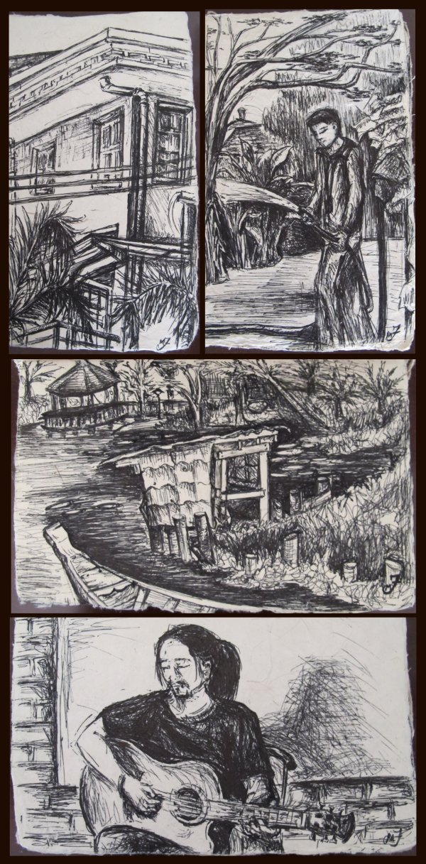 4 Ink Drawings