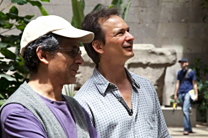 Forrest Gander & Alfonso D'Aquino at the Museo de Antropología de Xalapa for a USPiM sponsored Translation Residency, June 2010