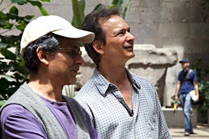 Forrest Gander & Alfonso D'Aquino at the Museo de Antropología de Xalapa for a USPiM sponsored Translation Residency, June 2010