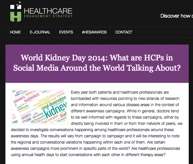 NephMadness gets a shootout in this article about World Kidney Day social media activities.