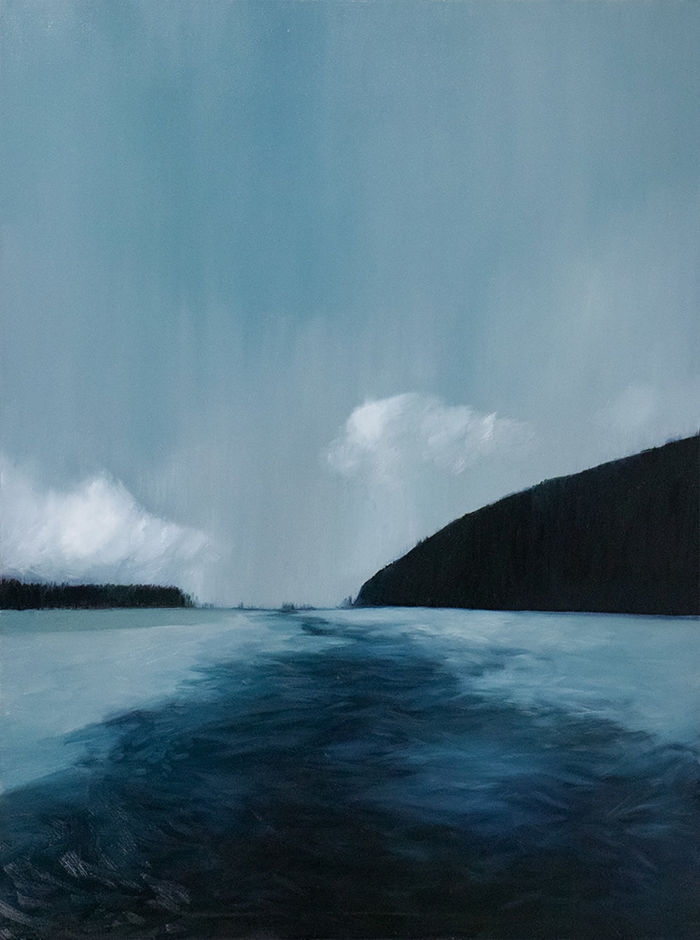 Makaroa Rain, Otago, 2018 / Oil on canvas