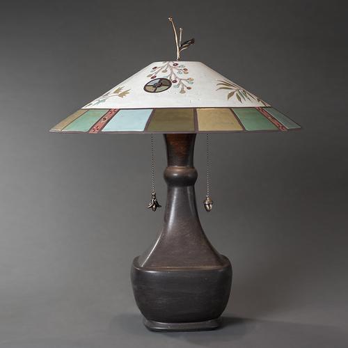 Ugone thomas ceramic shaded lamp earthenworks ugone thomas ceramic shaded lamp mozeypictures Gallery