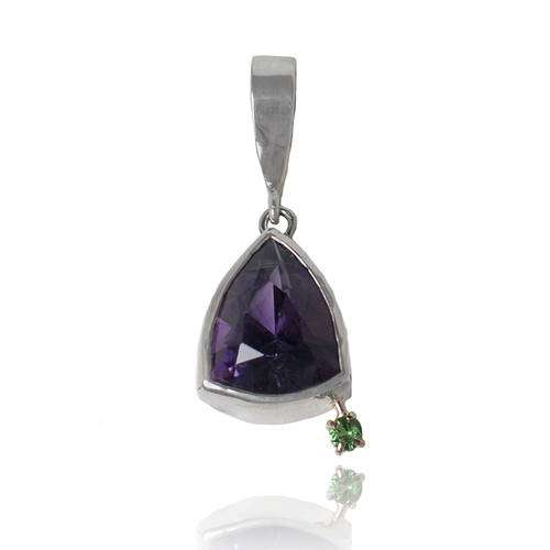 Bills amethyst and tsavorite pendant earthenworks bills amethyst and tsavorite pendant aloadofball Gallery