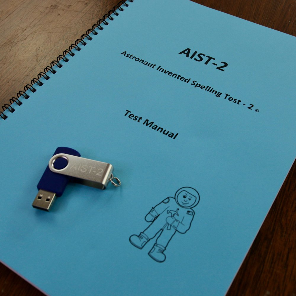 AIST-2 - Astronaut Invented Spelling Test - 2. A test of phonemic awareness and the early development of the knowledge of spelling patterns, suitable for primary school aged children. May be administered individually or in groups, and takes less than 10 mins to complete. Includes Australian norms for the first 4 years of schooling, video demonstration of administration and scoring, and extensive suggestions for intervention based on test results.$110 (inc. GST). Order using the form below.