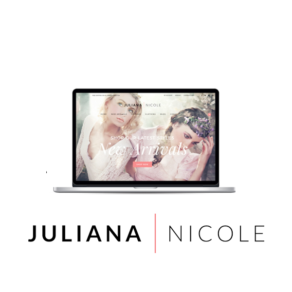 Shop Juliana Nicole - Website, Ad Design, Booklet, Banners, Event Collateral