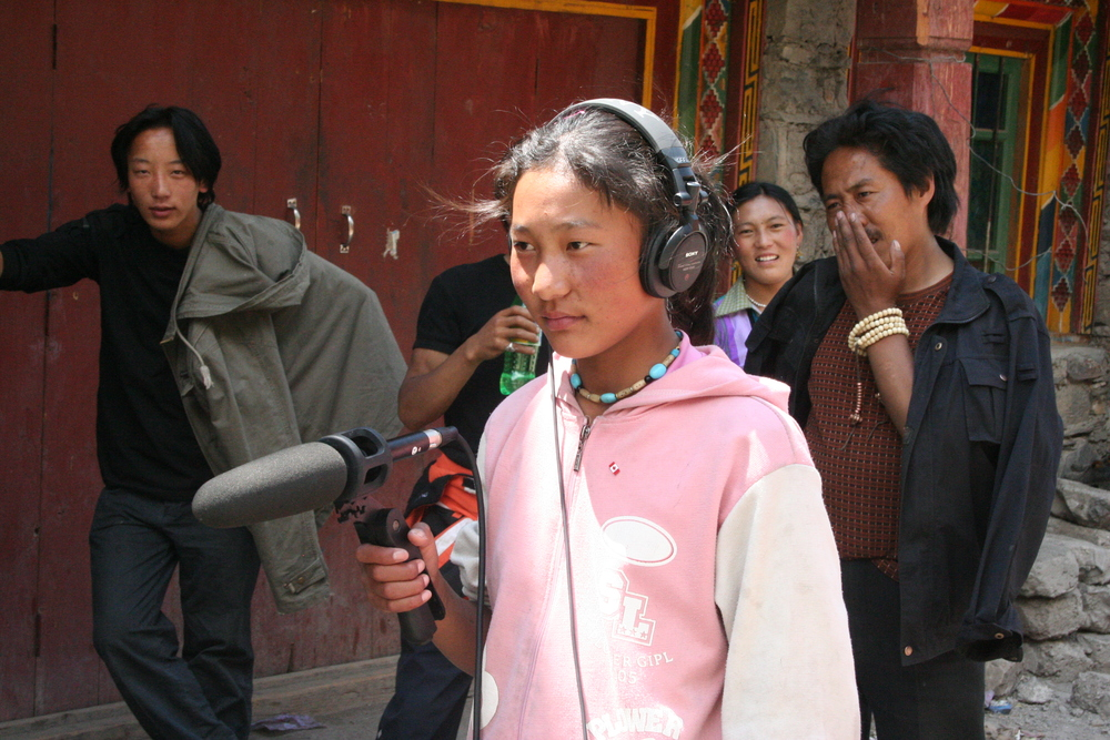 Tsering Lhamo taking sound on Making Good Choices