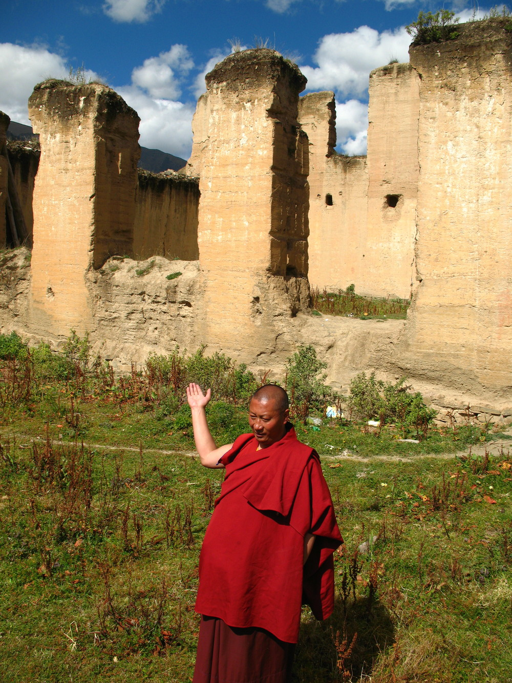 Ruins of the old Dzongsar Monastery
