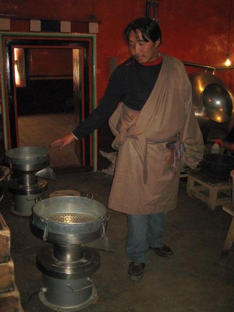 Trabu Chime Dorje gives a tour of the Dzongsar Tibetan Hospital