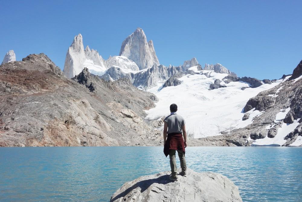 View of Fitz Roy peak from Laguna de los Tres