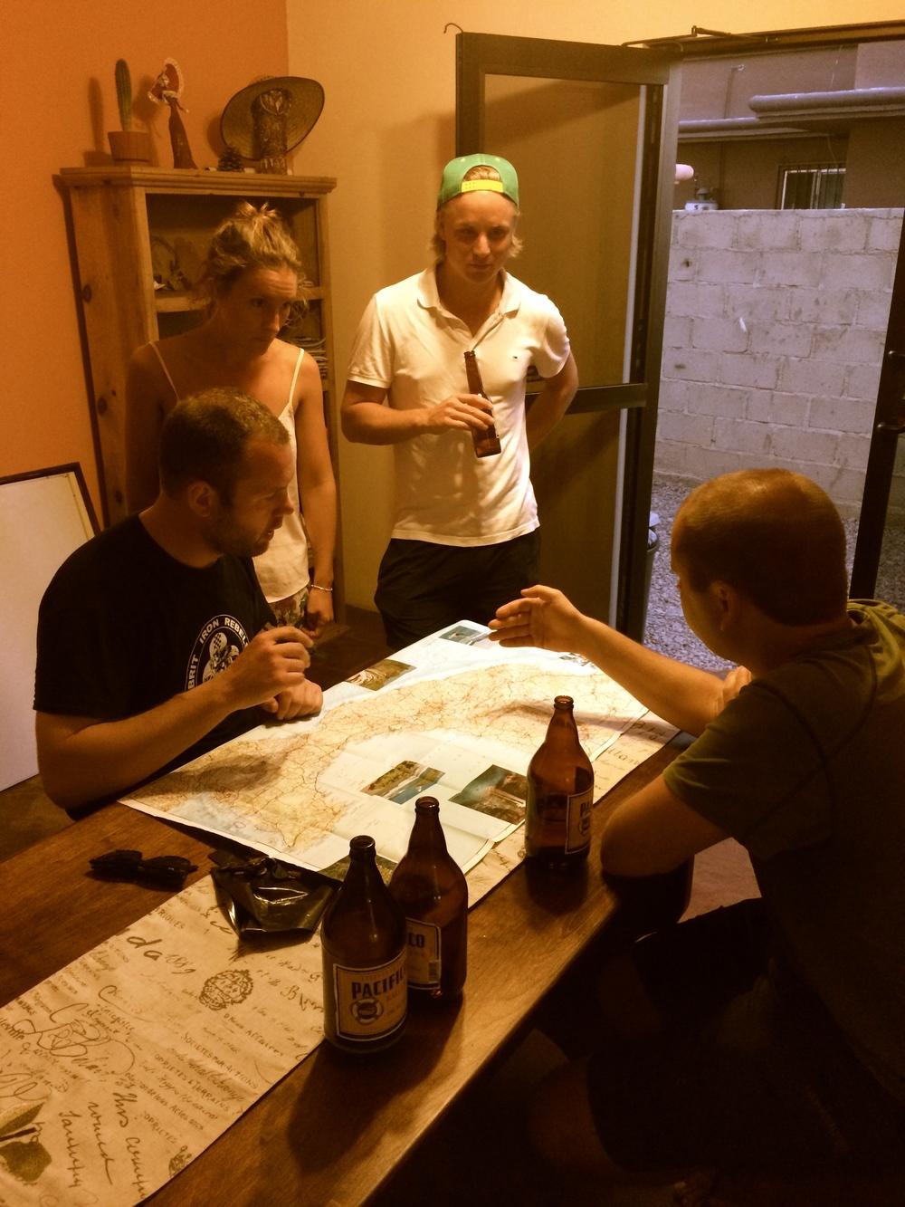 Adam, Anna, Albert, and Dan discuss route options