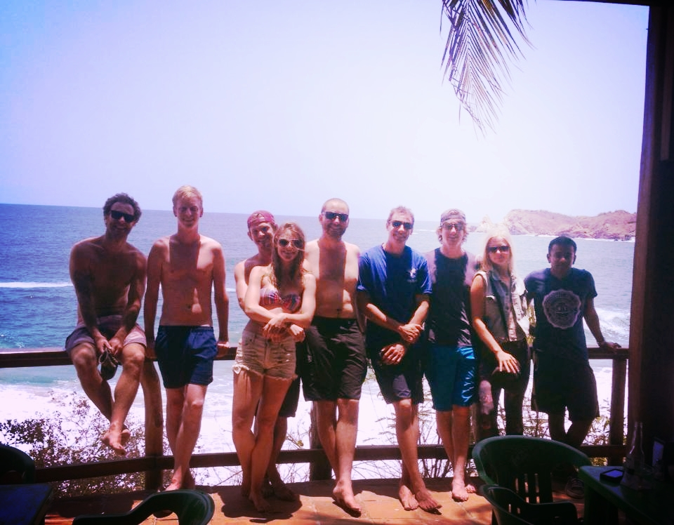 collective founders and members at playa mazunte.
