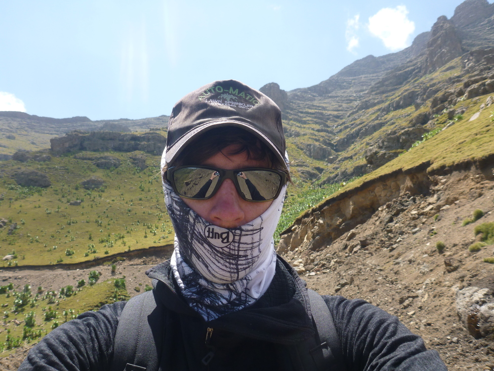 keepin me cool at 14000 feet in the simien mountains, northern ethiopia