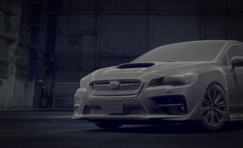 Subaru WRX CGI Wireframe