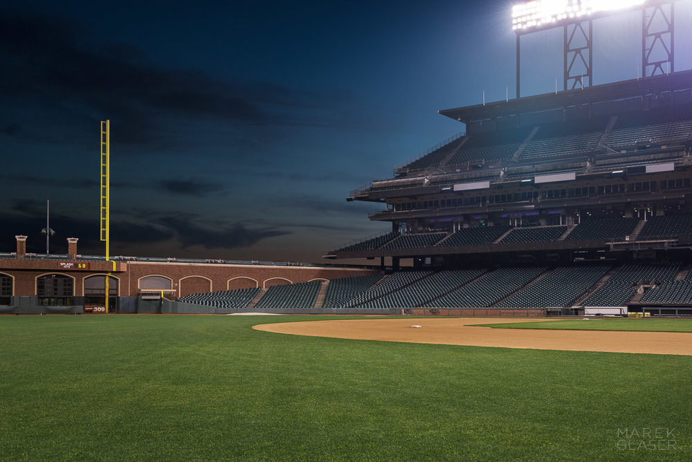 AT&T Park retouched background plate