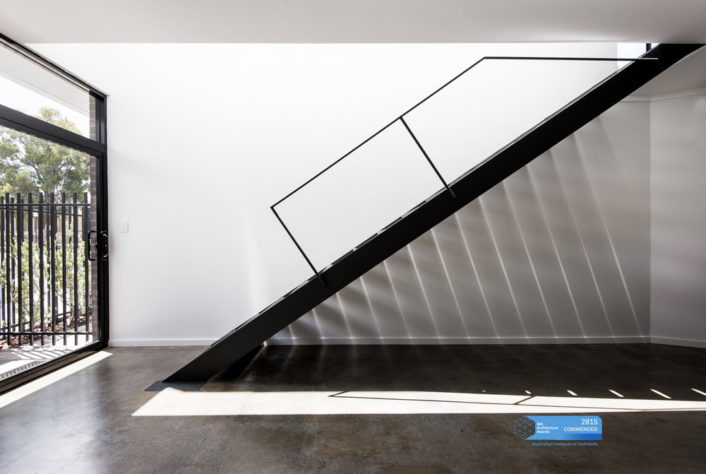 Triangle House by Robeson Architects - Steel Staircase