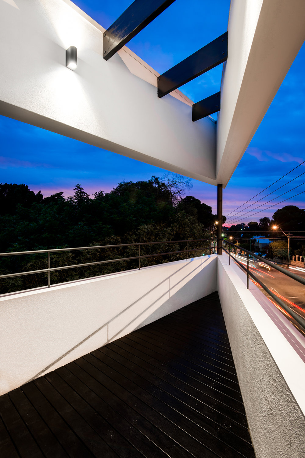 Triangle House by Robeson Architects - Balcony