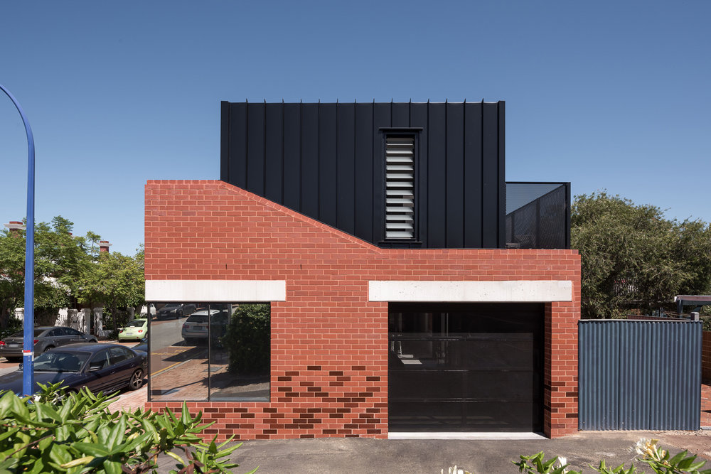 King George by Robeson Architects Brick and Steel Facade
