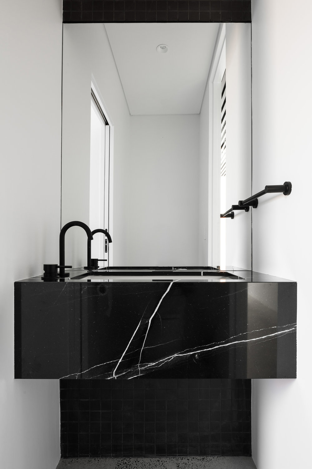 King George by Robeson Architects - Marble Vanity
