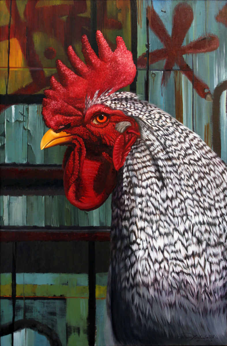 REGAL ROGUE | OIL ON LINEN - sold