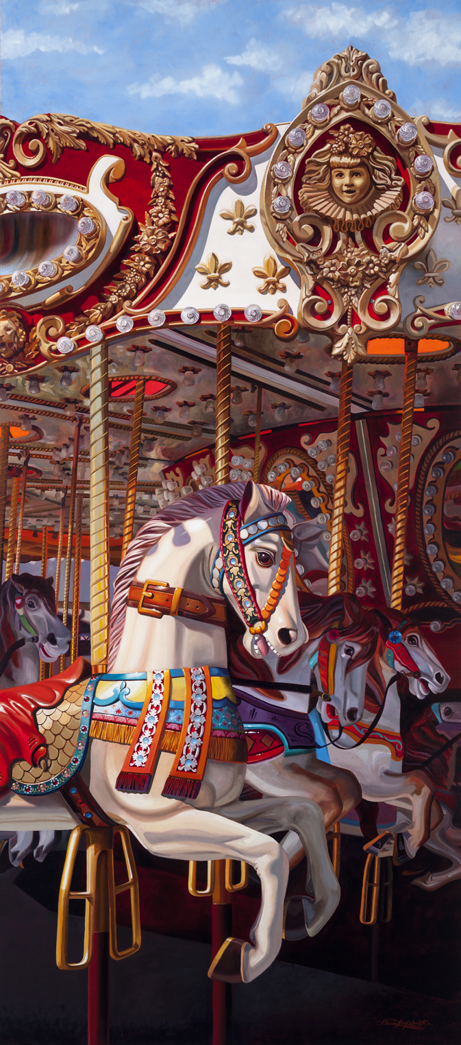 CAROUSEL | OIL ON LINEN | 30X70