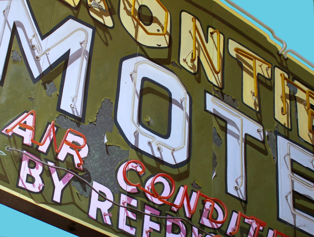 FRONTIER MOTEL | OIL ON BOARD | 40X30