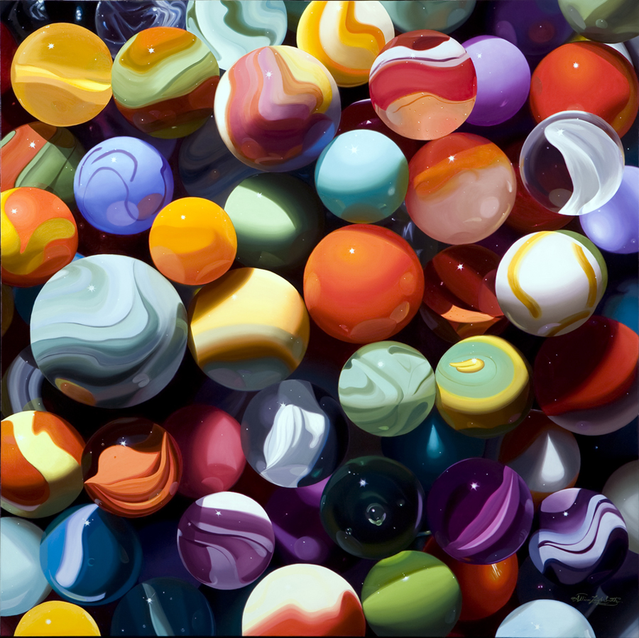 PCH MARBLES | OIL ON LINEN | 42X42