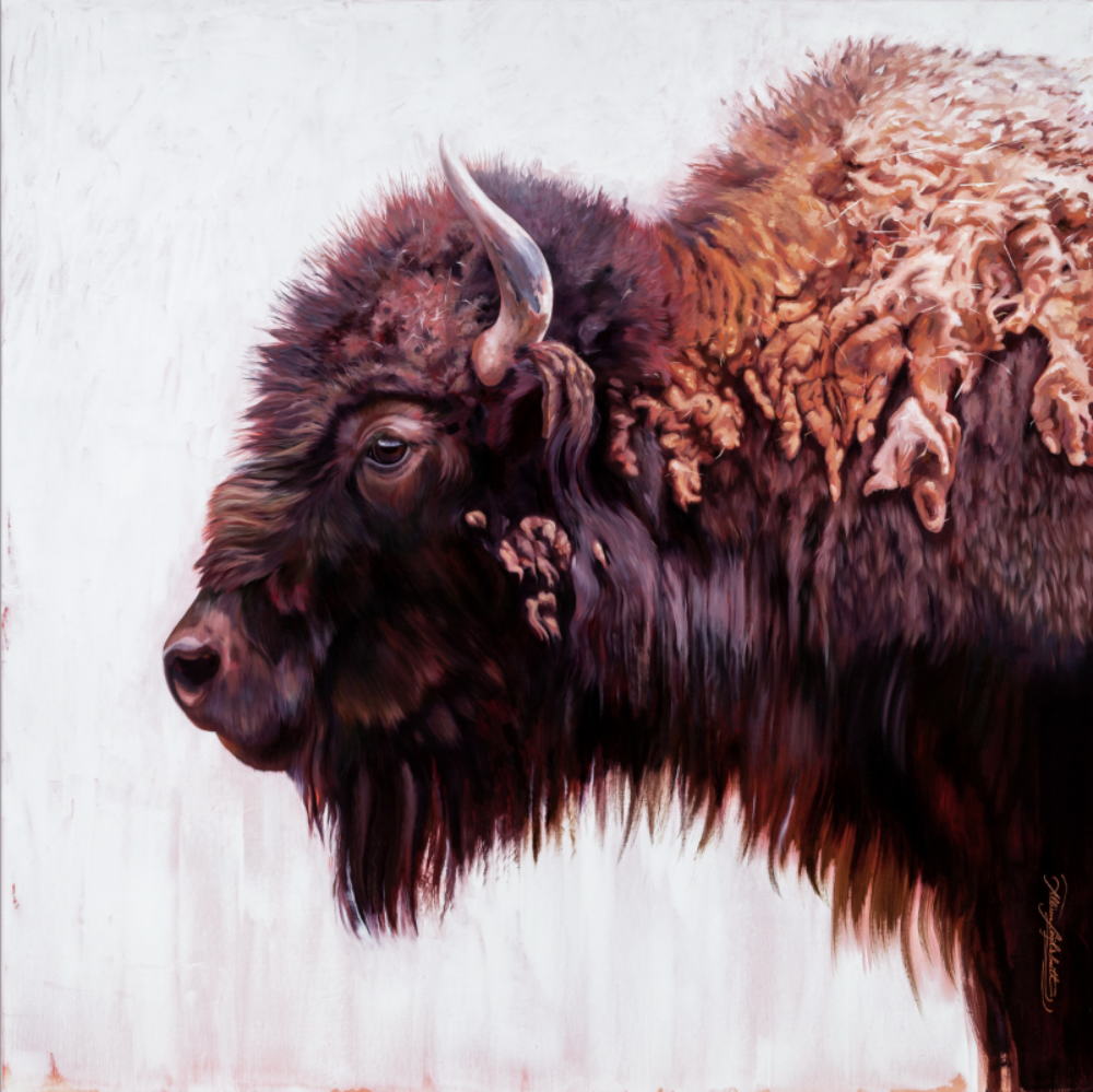 """Oh Give Me A Home 44x44"""" Oil on Linen Mounted on Board"""