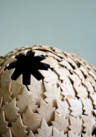 Co-Creative Studio Holly Natural Light Coconut Shell Home Accessories Short Vase Detail.jpg