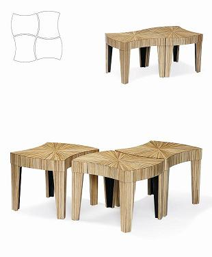 Co-Creative Studio, Detalia Aurora Jigsaw Laminated Sika Tables.jpg