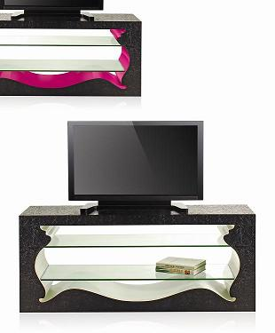 Co-Creative Studio, Detalia Aurora Embossed Bonded Leather Shelf and TV Stand.JPG