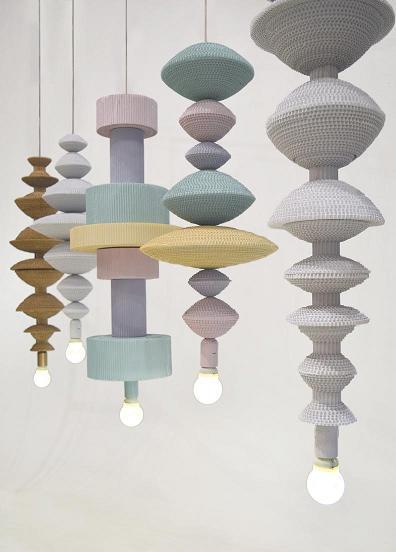 Co-Creative Studio Antoinette Kraft Paper Beads Pendant Hanging Lamps Details.JPG