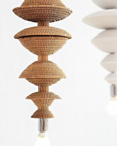 Co-Creative Studio Antoinette Kraft Paper Beads Pendant Hanging Lamps Gold Spool Details.jpg
