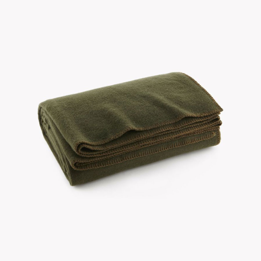 Faribault Pure & Simple Wool Blanket - Olive