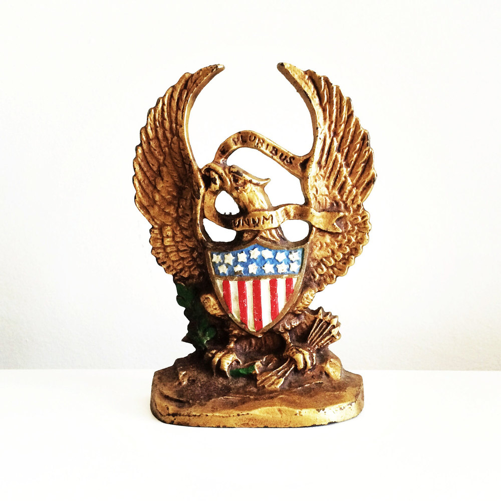 Gold American Eagle Bookend