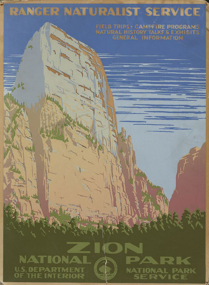 WPA Zion National Park Poster - Image courtesy of  Library of Congress
