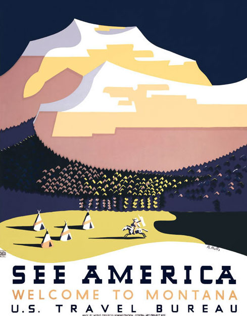 WPA See America Poster Reproduction. Image courtesy of  Vintagraph . Prints available at  Vintagraph .