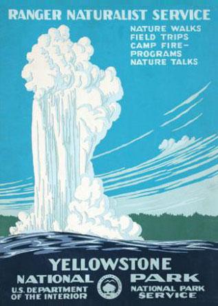 WPA Yellowstone National Park Poster Reproduction. Prints available at  Ranger Doug .