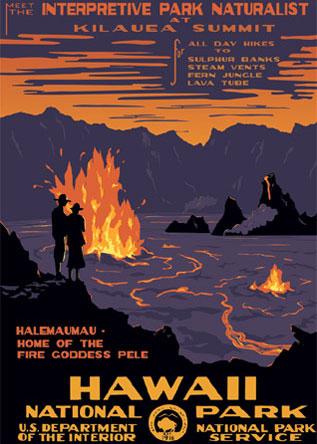 Ranger Doug Hawaii National Park Poster. Image Courtesy of  Ranger Doug  . Prints available at  Ranger Doug  .