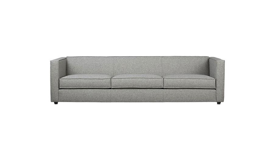 CB2 Club Grey 3-Seater Sofa