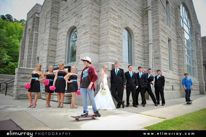 Skater kids wedding photos