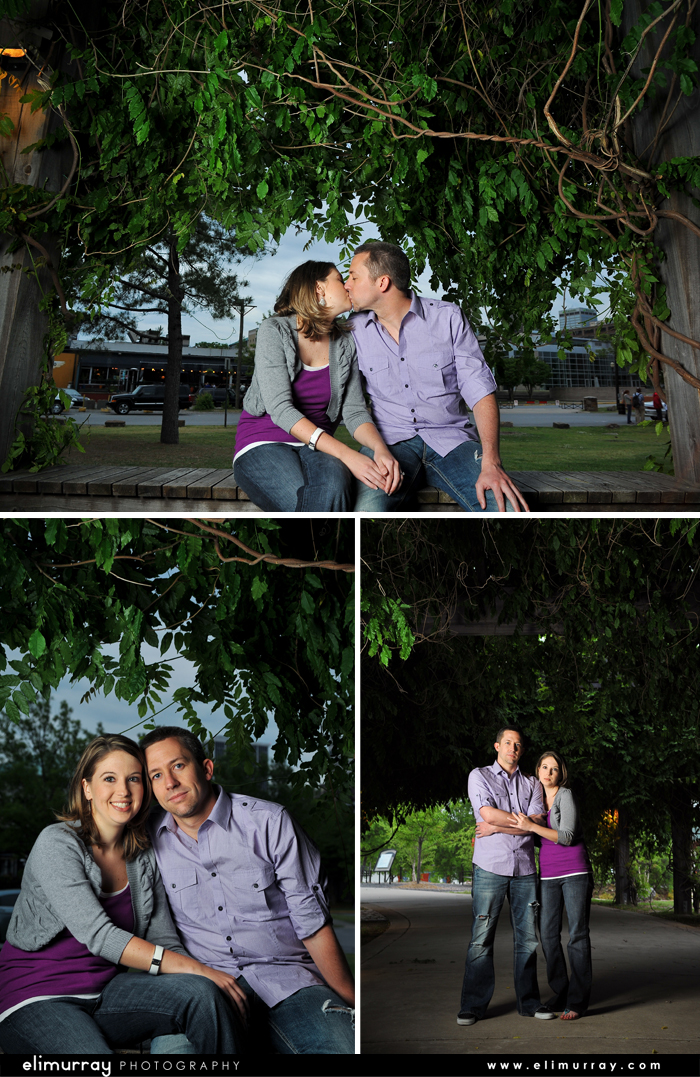One Light Engagement Photography