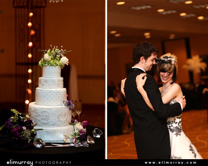 Dark Wedding Cake
