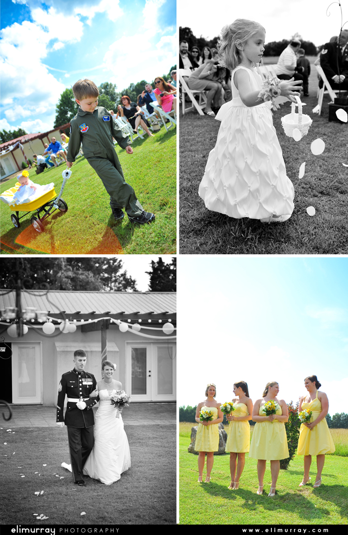 Yellow & Black Wedding