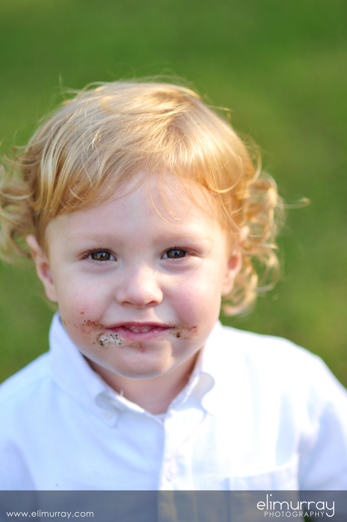Child Portrait with Ice Cream Face