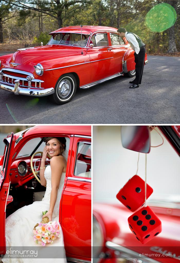 Classic Car Bride & Groom