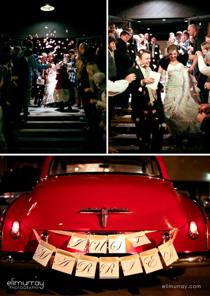 Bride & Groom Leaving