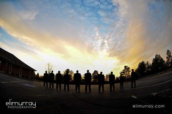 Groomsmen Sunset