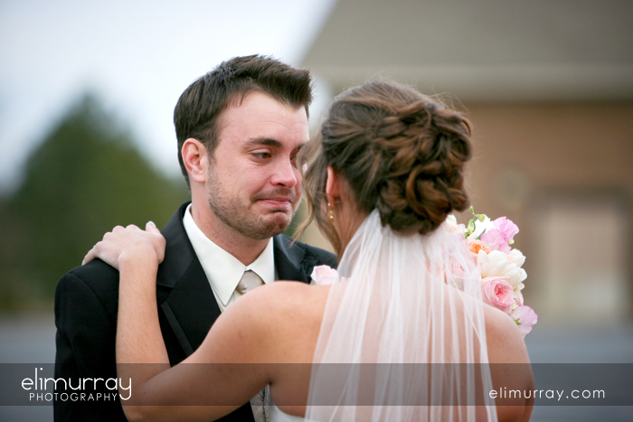 Groom with tears