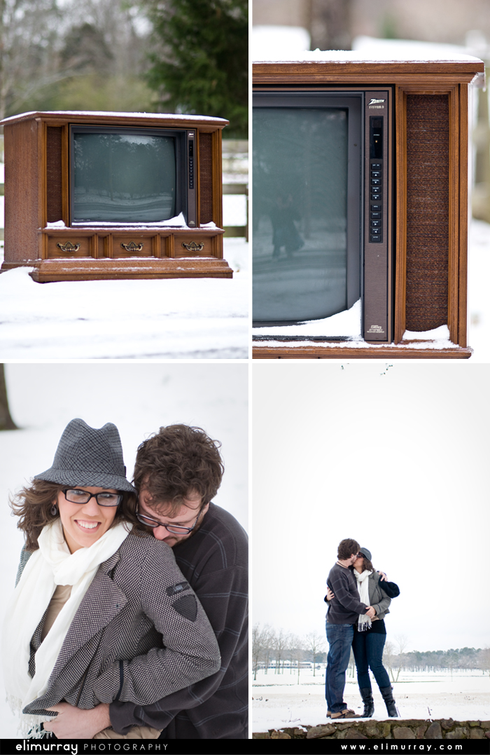 Vintage Engagement Portraits